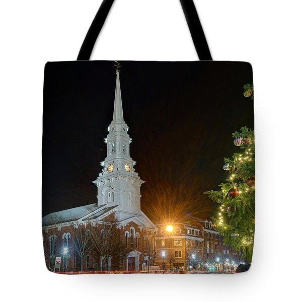 Christmas In Market Square Tote Bag