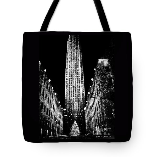 Christmas In New York City Tote Bag by Carol F Austin