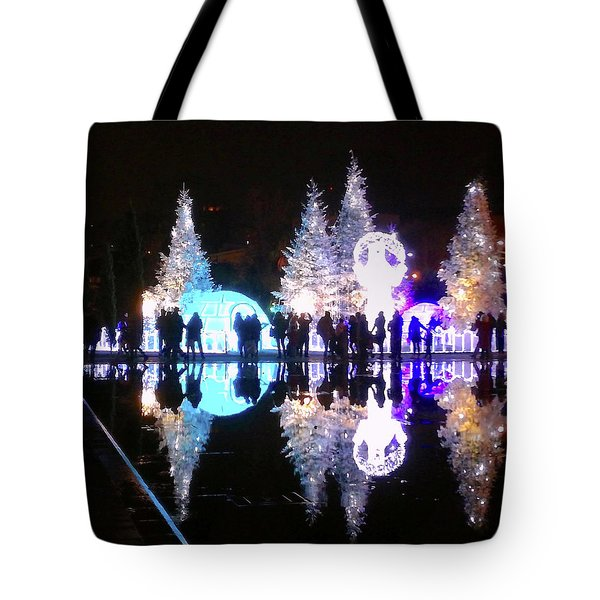 Christmas In Nizza, Southern France Tote Bag