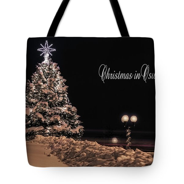 Tote Bag featuring the photograph Christmas In Oswego by Everet Regal