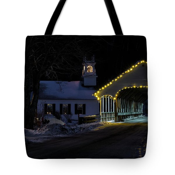 Christmas In Stark New Hampshire Tote Bag