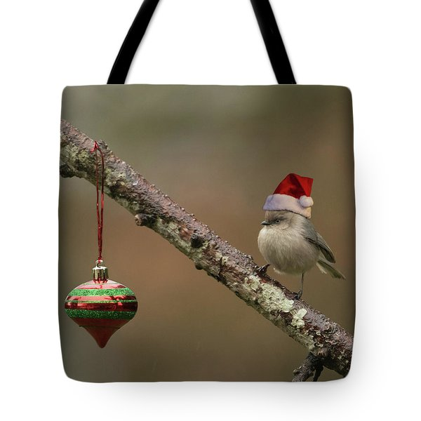 Tote Bag featuring the photograph Christmas In The Backyard by Angie Vogel