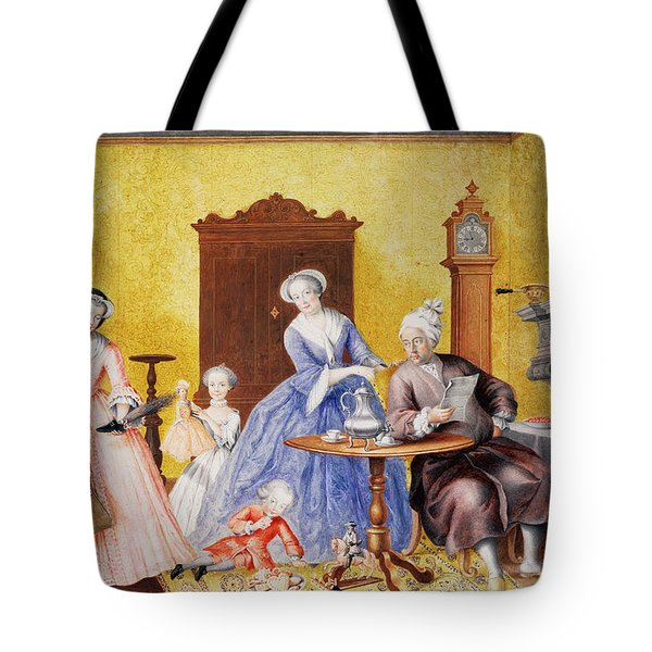 Christmas In The Royal Household Of Empress Maria Theresa Of Austria With Family Tote Bag