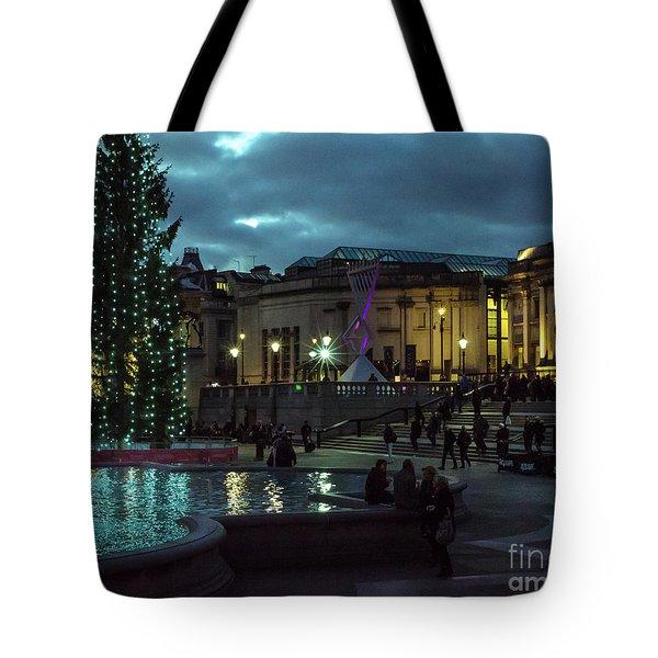 Christmas In Trafalgar Square, London 2 Tote Bag
