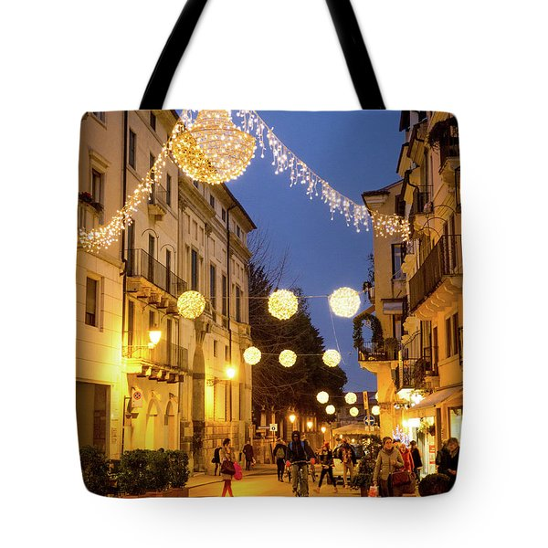 Christmas In Vicenza Italy Tote Bag