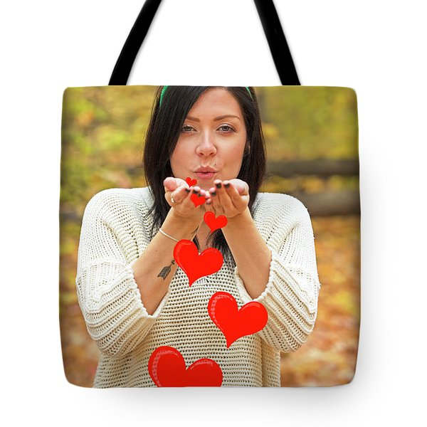 Tote Bag featuring the photograph Christmas Kisses.. by Nina Stavlund