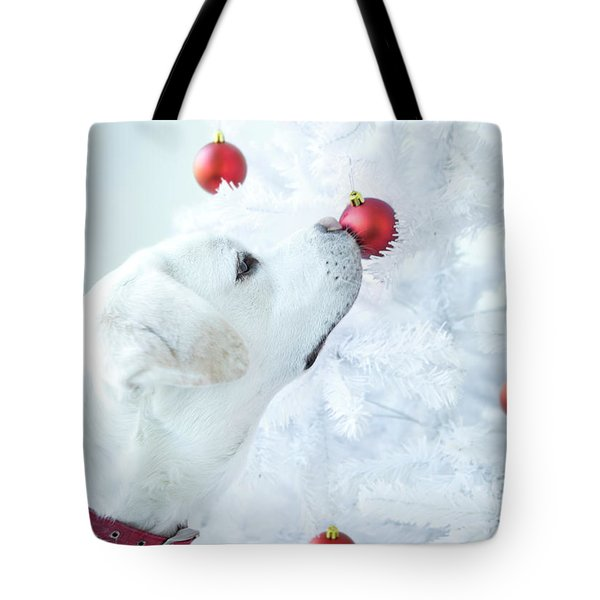 Christmas Lab Tote Bag