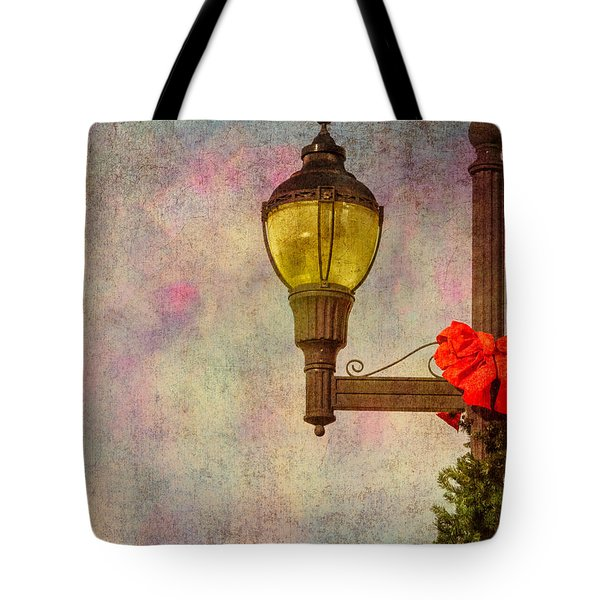 Christmas Lamp Post Tote Bag by Phillip Burrow
