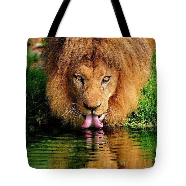 Christmas Lion Tote Bag