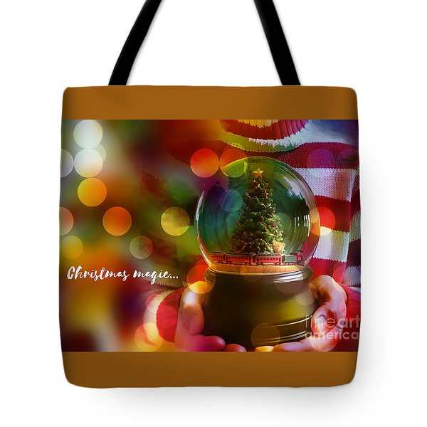 Tote Bag featuring the digital art Christmas Magic 2016 by Kathryn Strick