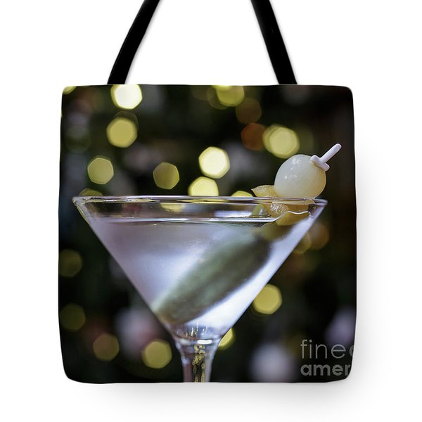 Christmas Martini Tote Bag