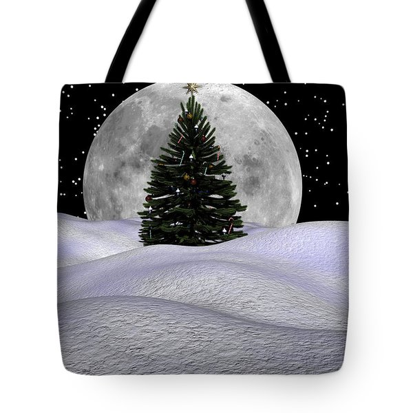 Christmas Moon Tote Bag by Michele Wilson