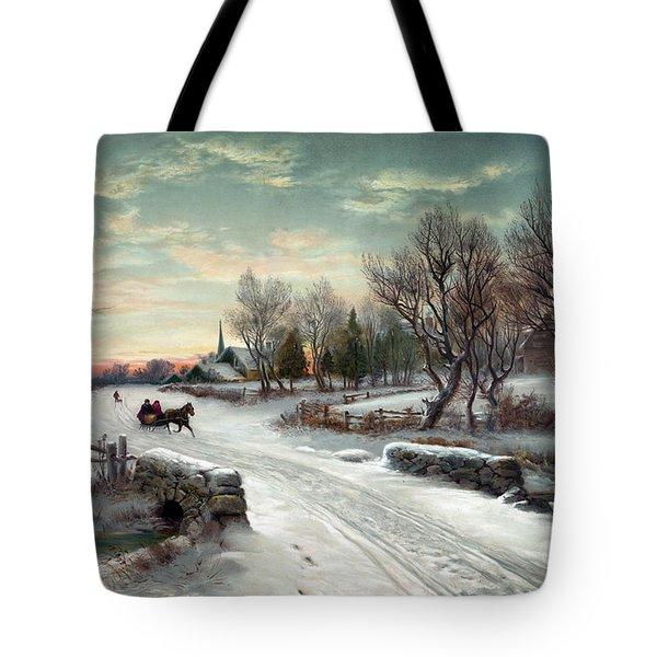 Christmas Morn, C1885 Tote Bag by Granger