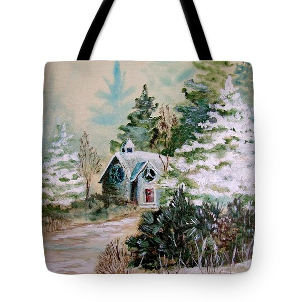 Christmas Morn Tote Bag by Marilyn Smith