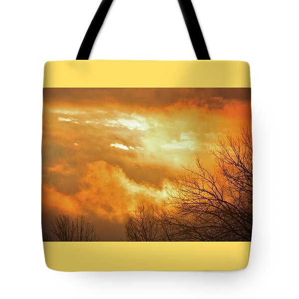 Tote Bag featuring the photograph Christmas Morning Sunrise by Diane Alexander