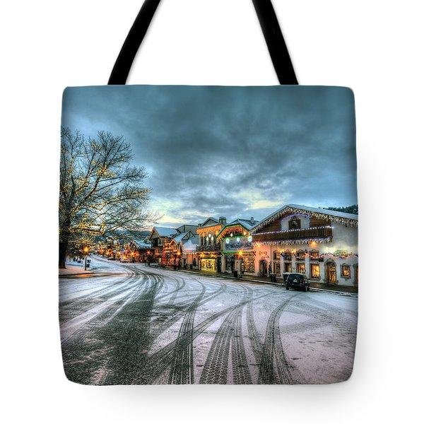 Christmas On Main Street Tote Bag