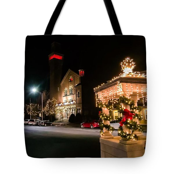 Christmas On Main Street Easthampton Tote Bag