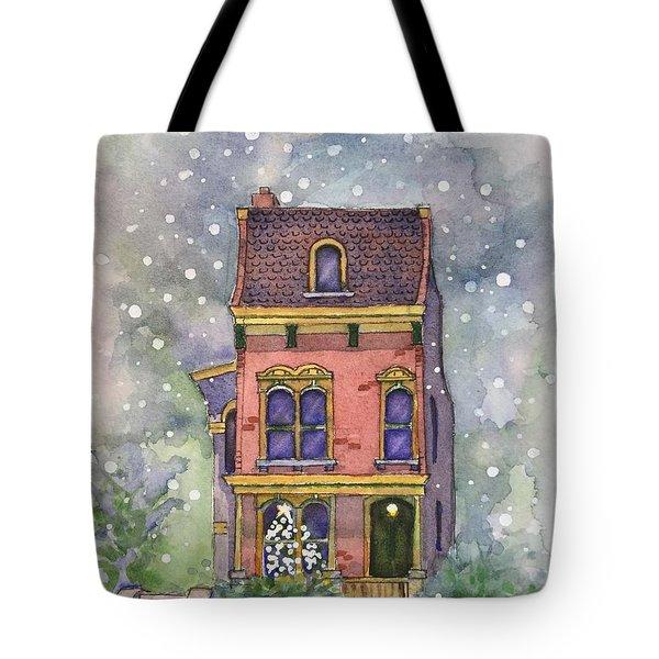 Christmas On North Hill Tote Bag