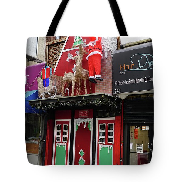 Christmas On Sherman Avenue  Tote Bag by Cole Thompson