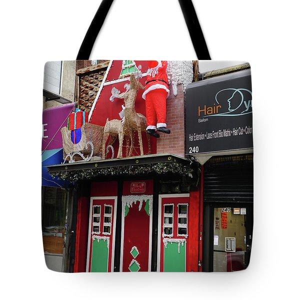 Christmas On Sherman Avenue  Tote Bag