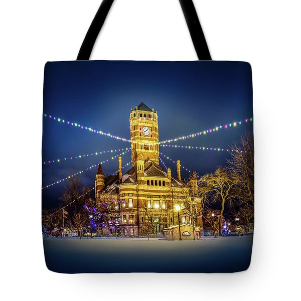 Tote Bag featuring the photograph Christmas On The Square 2 by Michael Arend