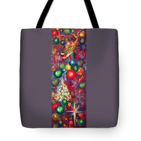 Christmas Orbs Tote Bag by Peter Bonk