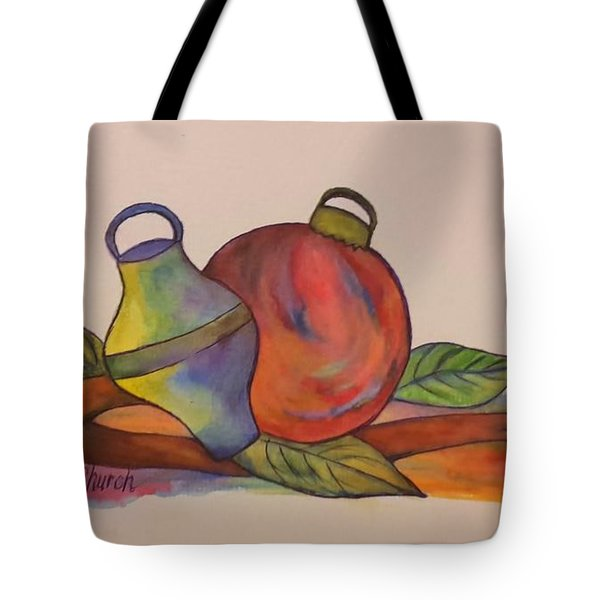 Christmas Ornaments Tote Bag by Christy Saunders Church