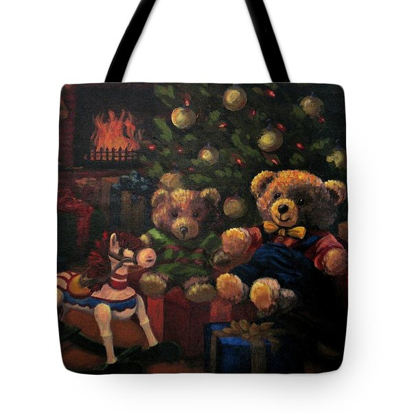 Tote Bag featuring the painting Christmas Past by Karen Ilari