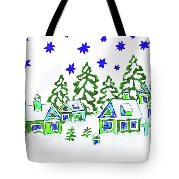 Christmas Picture, Painting Tote Bag