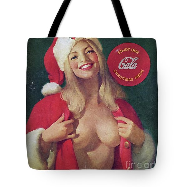 Christmas Playboy Vintage Cover Tote Bag