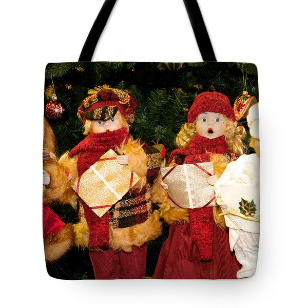 Tote Bag featuring the photograph Christmas Quartet by Vinnie Oakes