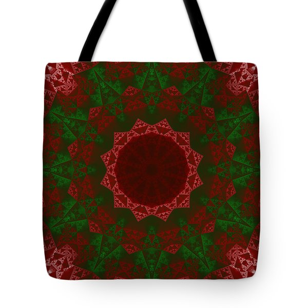Christmas Quilt Tote Bag