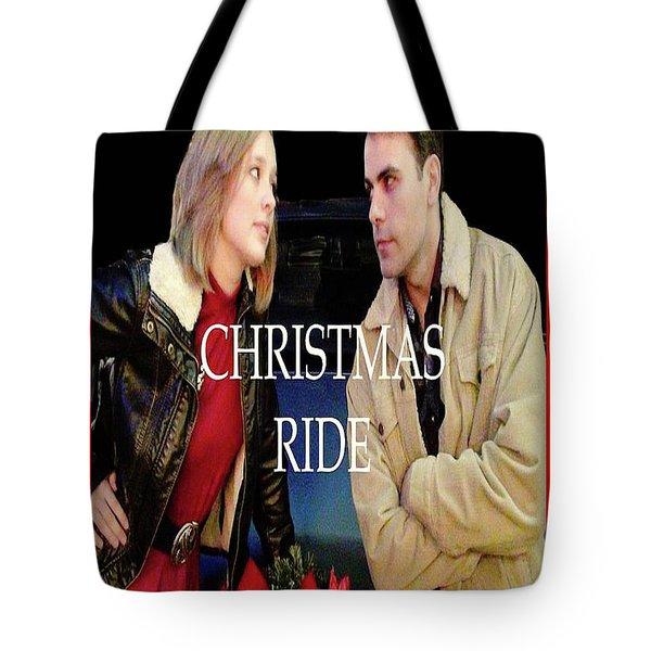 Christmas Ride Poster 16 Tote Bag by Karen Francis