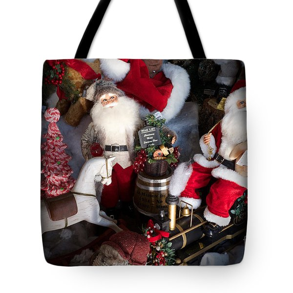Tote Bag featuring the photograph Christmas Rocking Horse II by Vinnie Oakes