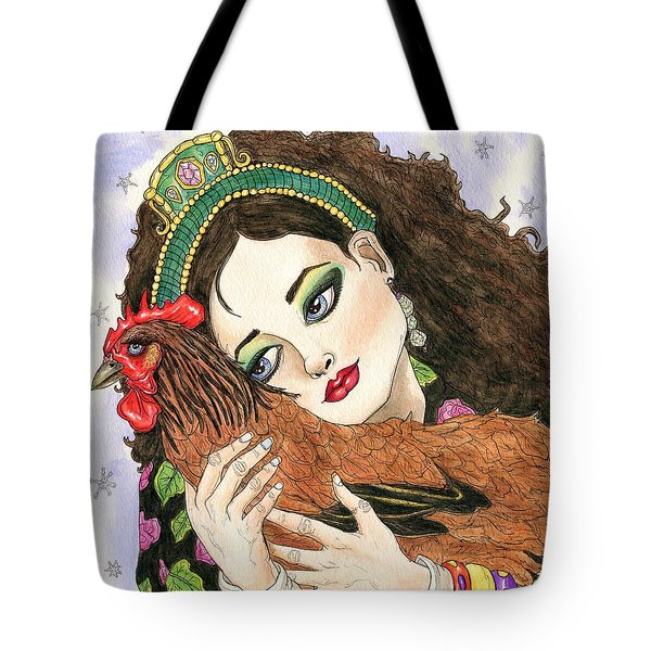 Christmas Rooster Tote Bag