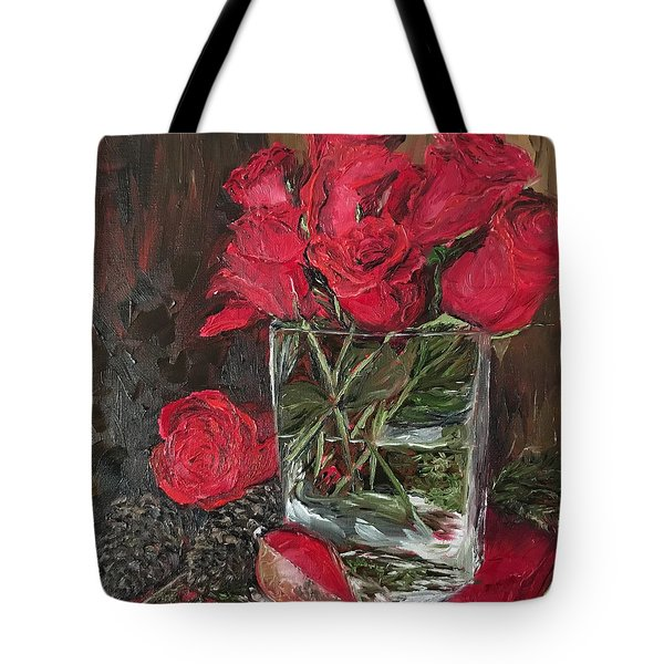Christmas Roses Tote Bag