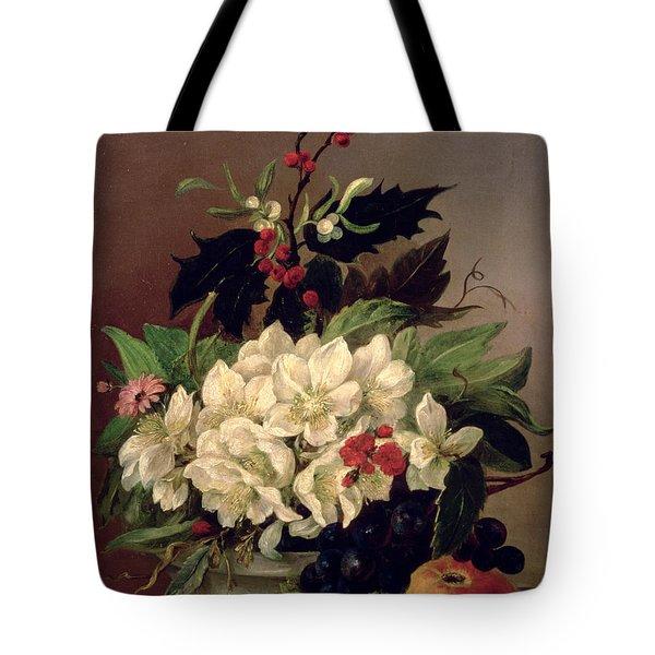 Christmas Roses Tote Bag by Willem van Leen