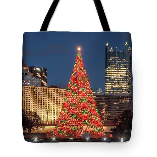 Tote Bag featuring the photograph Christmas  Season In Pittsburgh  by Emmanuel Panagiotakis