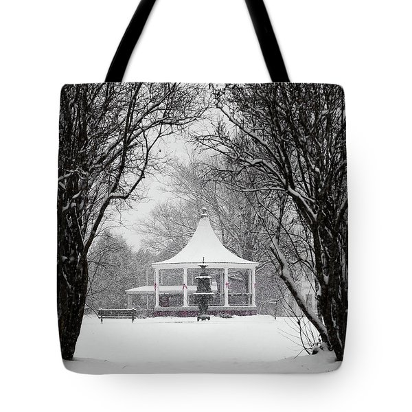 Christmas Season In The Park Tote Bag