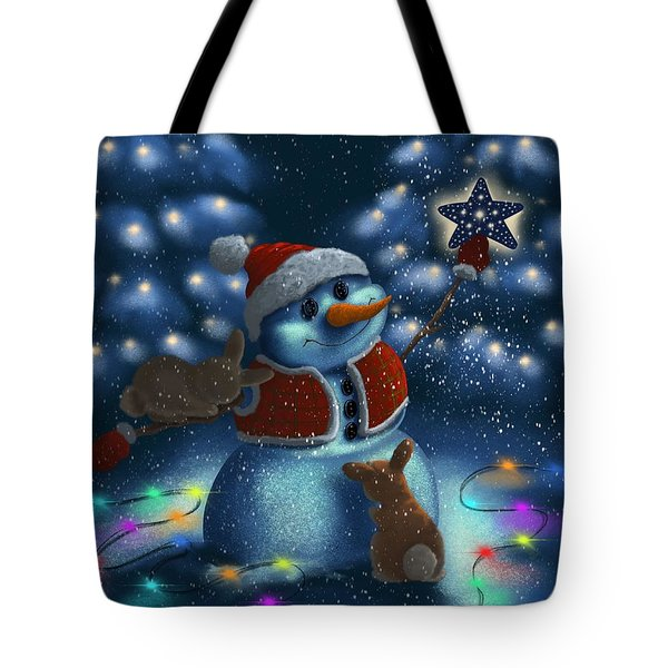 Tote Bag featuring the painting Christmas Season by Veronica Minozzi
