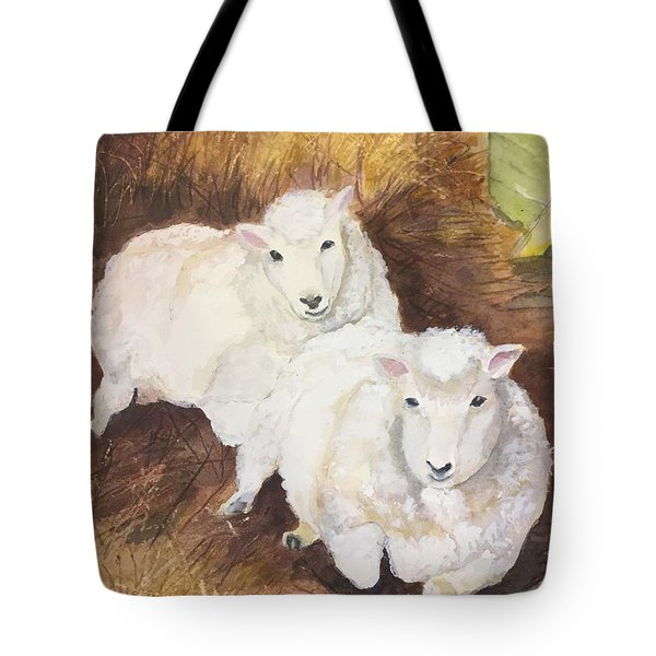 Christmas Sheep Tote Bag by Lucia Grilletto