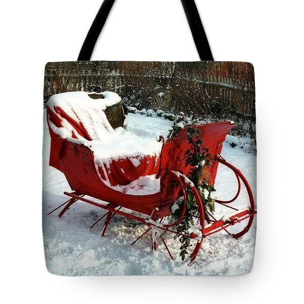 Christmas Sleigh Tote Bag