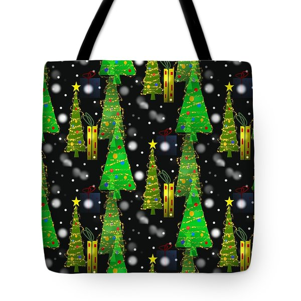 Christmas Snow Fall Tote Bag