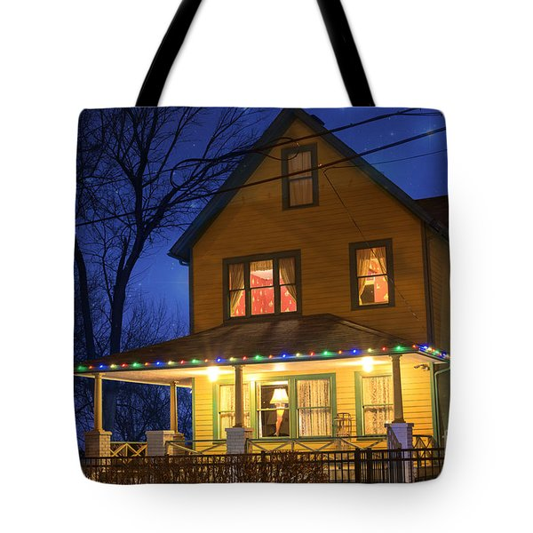 Christmas Story House Tote Bag