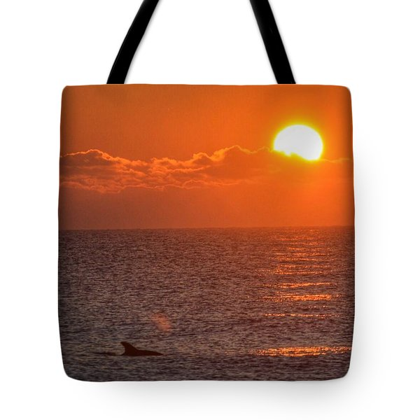 Christmas Sunrise On The Atlantic Ocean Tote Bag by Sumoflam Photography