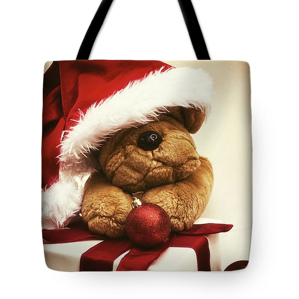 Christmas Teddy Bear Tote Bag by Wim Lanclus