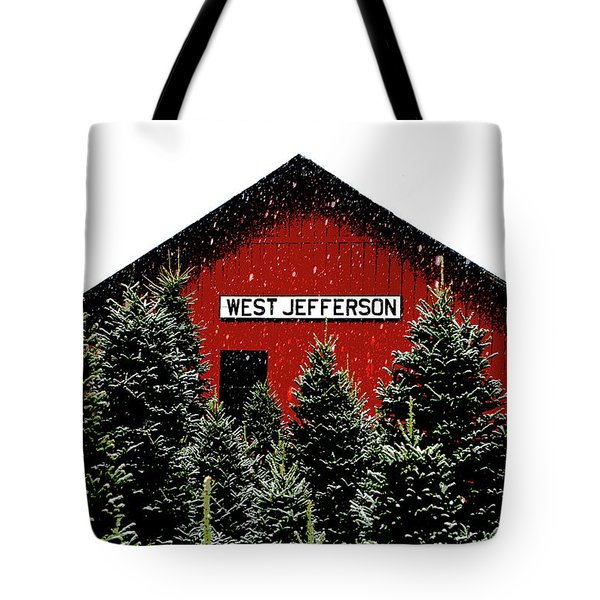 Christmas Town Tote Bag by Dale R Carlson