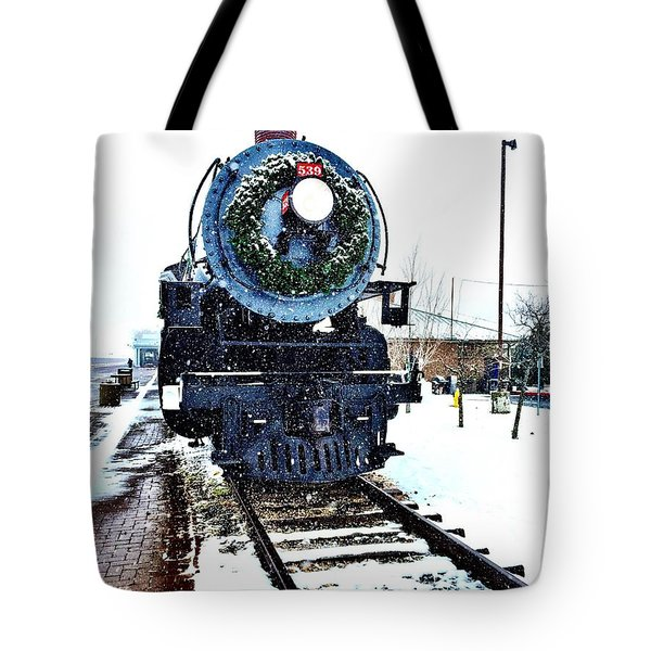 Christmas Train Tote Bag