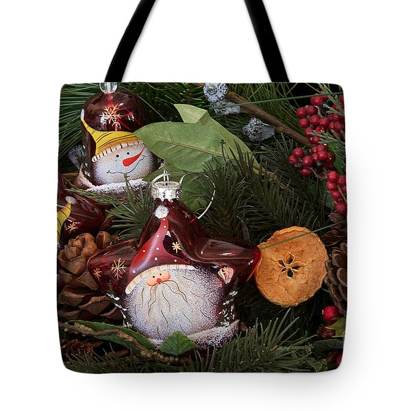 Tote Bag featuring the photograph Christmas Tree Decor by Vinnie Oakes