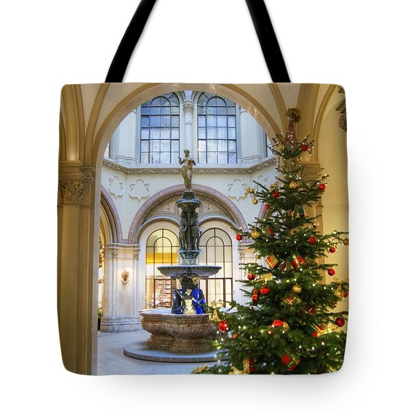 Tote Bag featuring the photograph Christmas Tree In Ferstel Passage Vienna by David Birchall